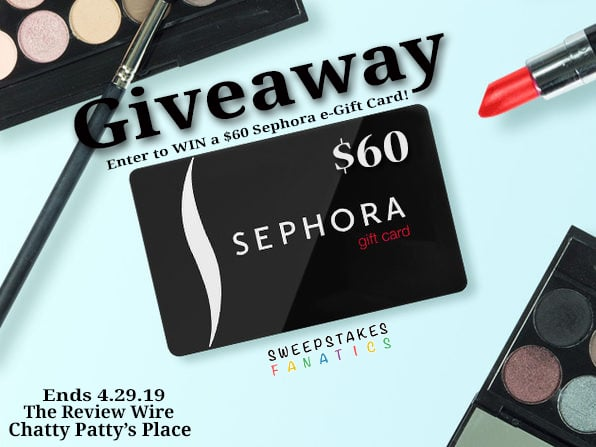 The Review Wire: Sephora e-Gift Card Giveaway. Ends 4.29.19