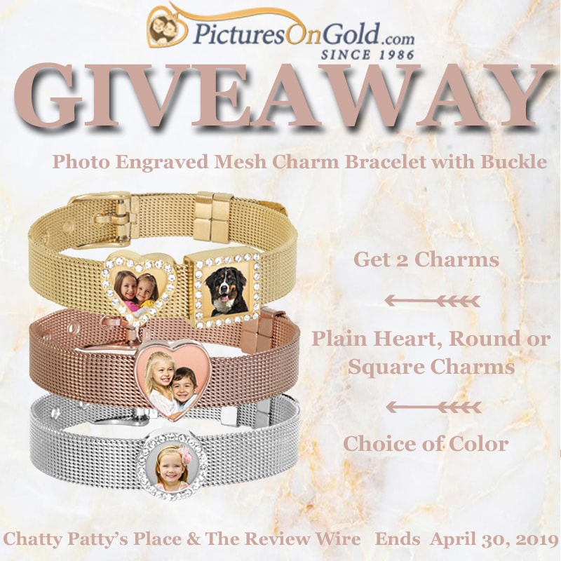 The Review Wire: Pictures on Gold Mesh Bracelet Giveaway. Ends 4/31/19