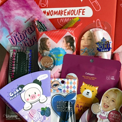 nomakenolife Korean and Japanese Beauty Box: March 2019 Vibrant Vibes Unboxing Video