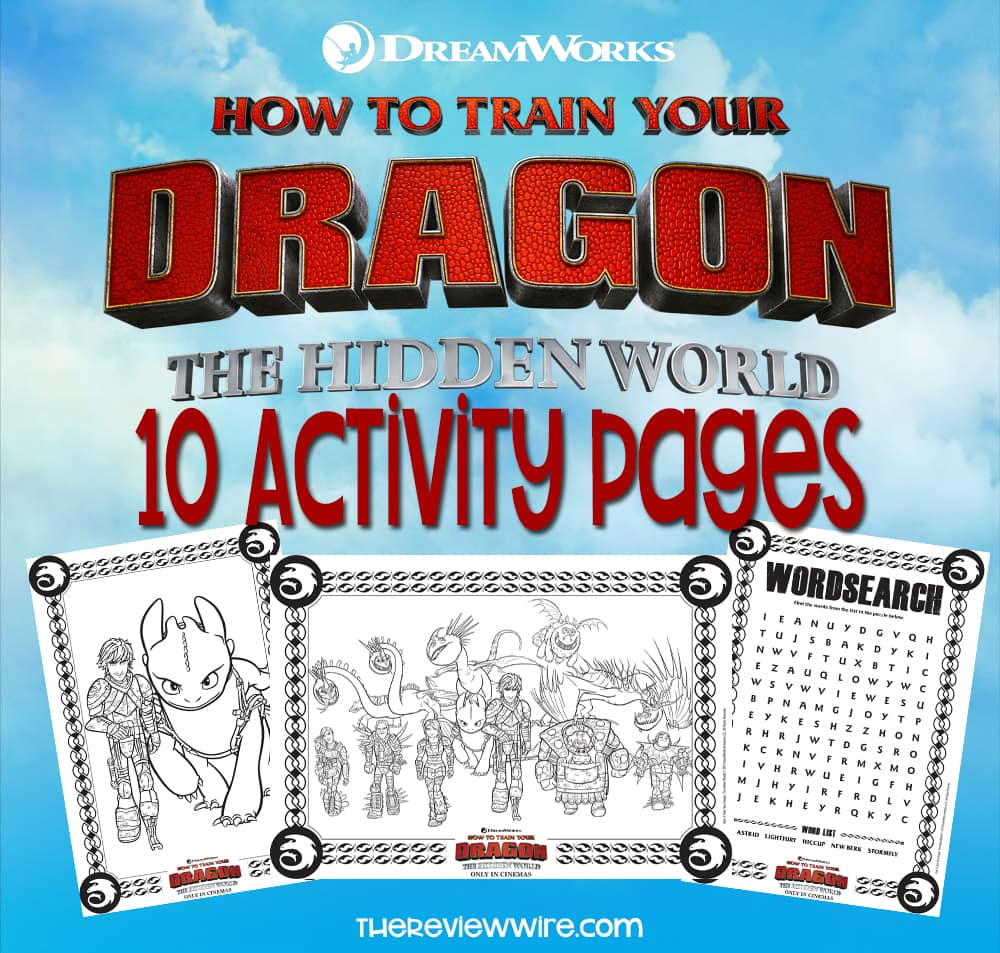 The Review Wire How To Train Your Dragon: Hidden World Activity Pages
