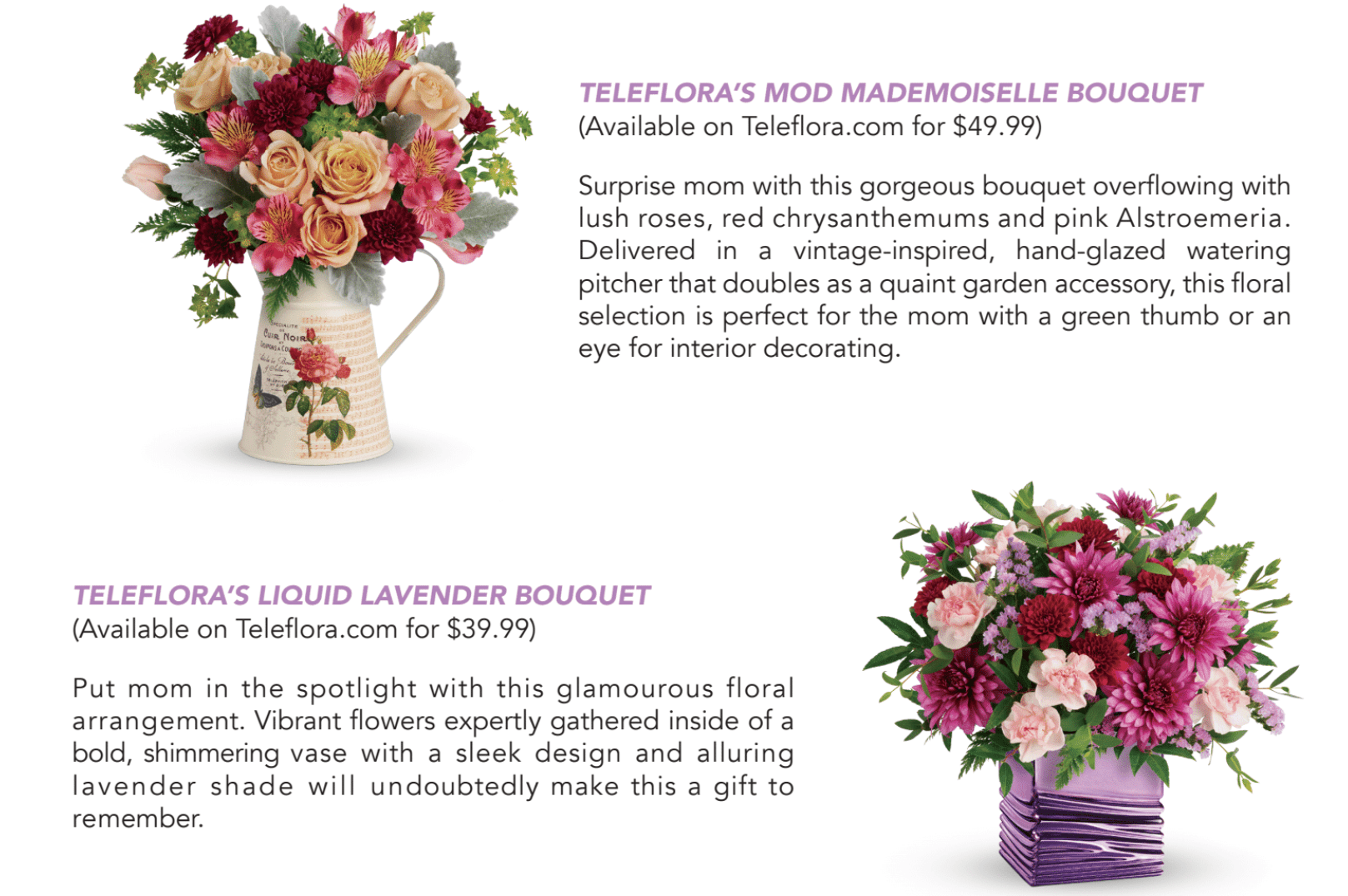 The Review Wire: Mother's Day 2019 Bouquet Lineup
