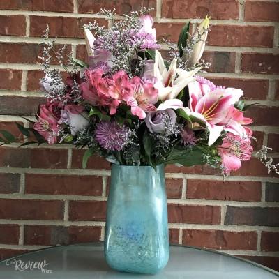 Make Mom's Heart Flutter with a Teleflora Arrangement: Art Glass Treasure Bouquet