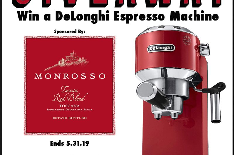 The Review Wire - DeLonghi Espresso Machine. Ends 5.31.19Giveaway