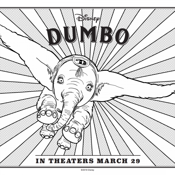 Dumbo Coloring Sheet
