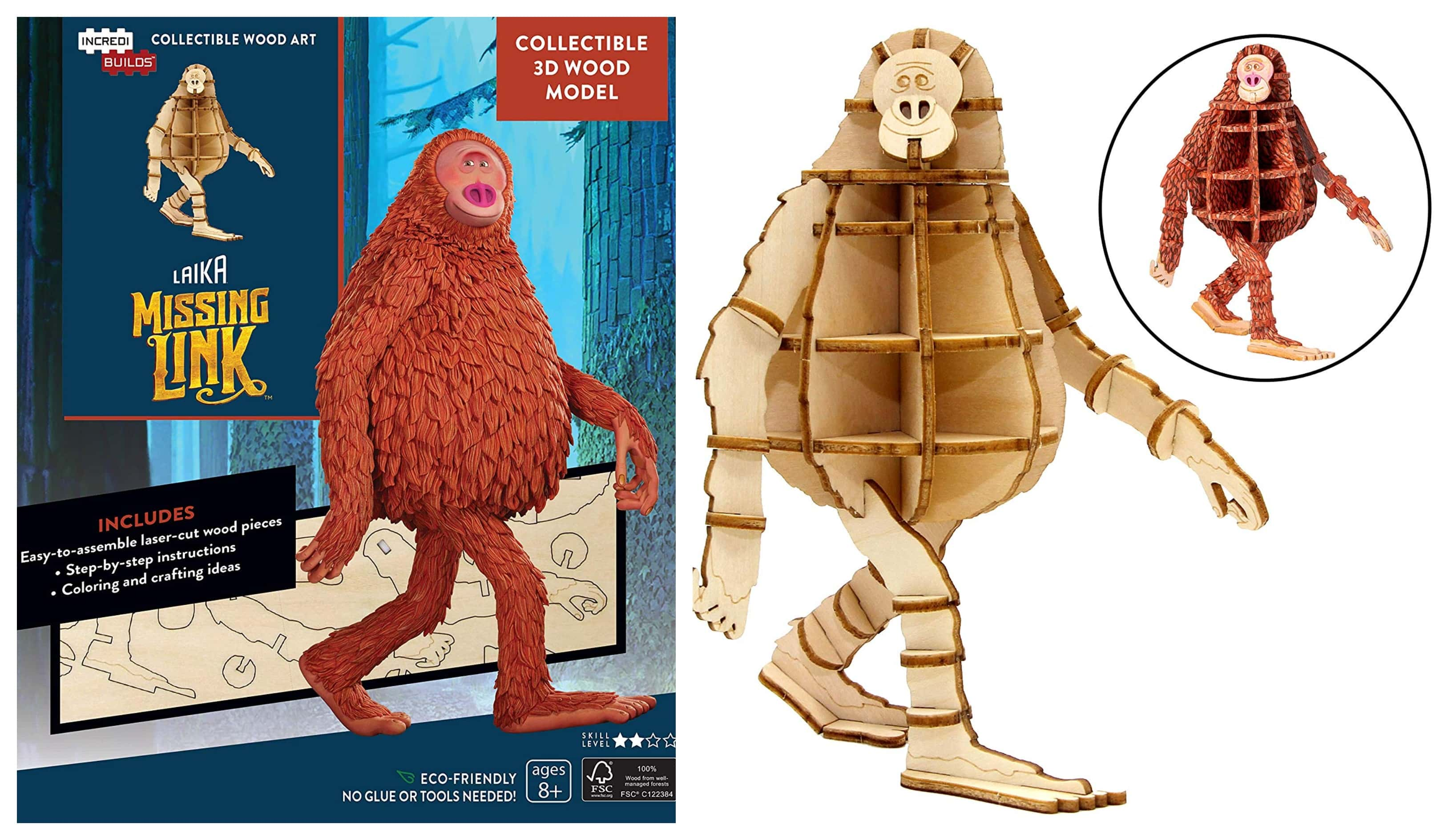 The Review Wire: IncrediBuilds: Laika Missing Link 3D Wood Model