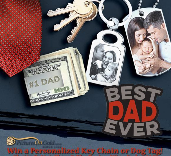 The Review Wire: Pictures on Gold Giveaway Dog Tag:Key Chain. Ends 6.14.19