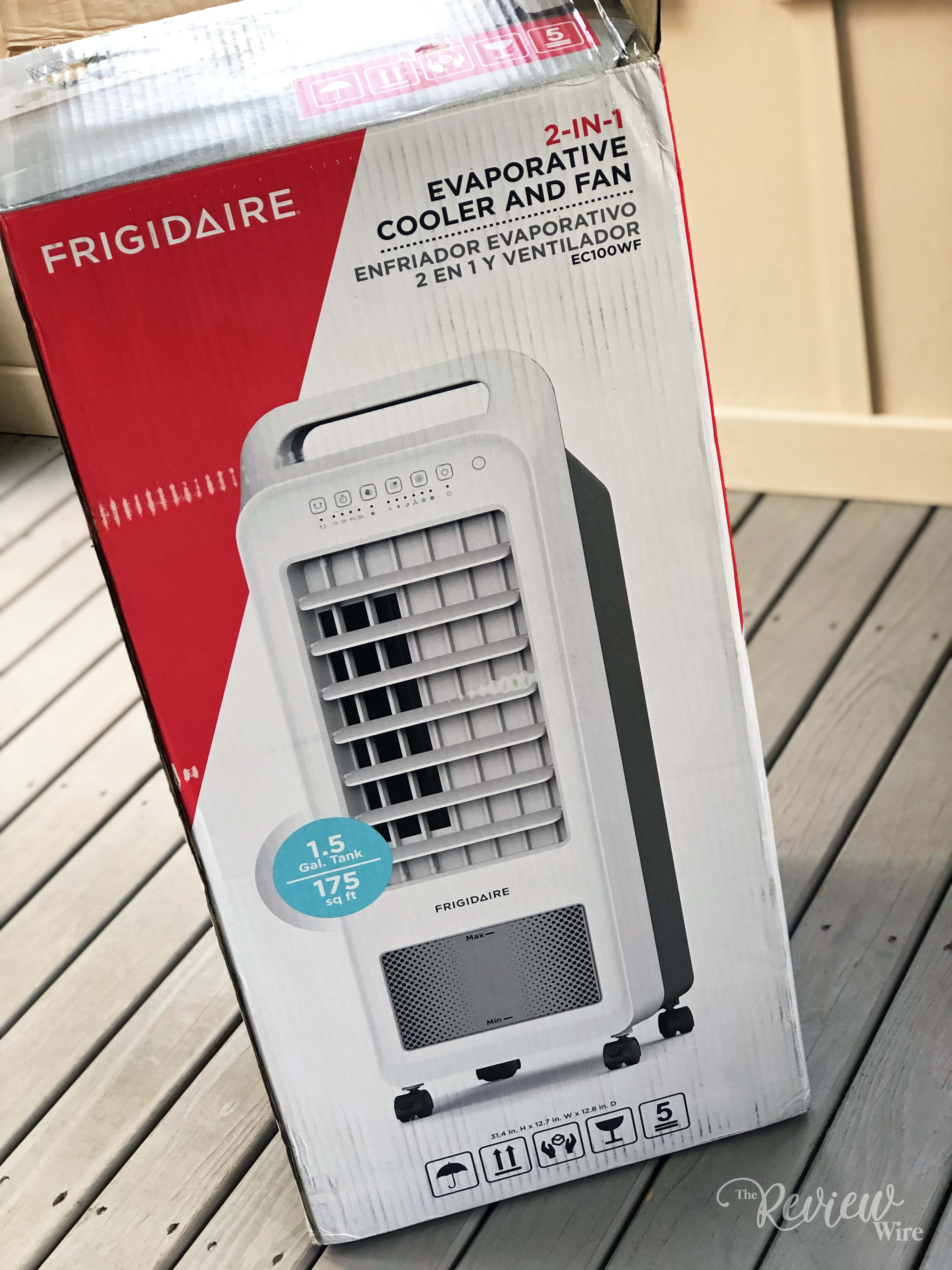 The Review Wire - Frigidaire 2-in-1 Personal Evaporative Air Cooler and Fan