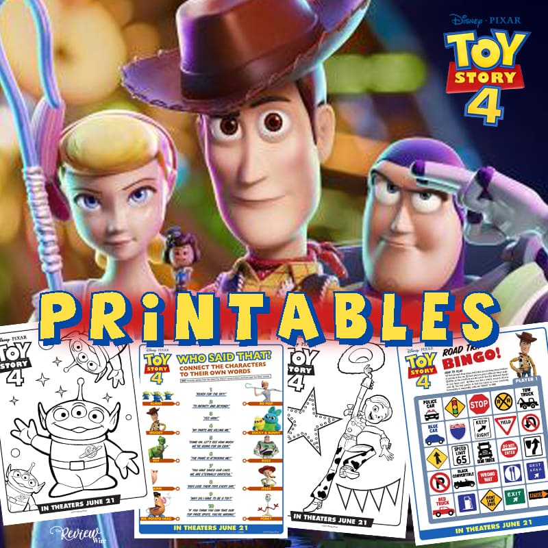The Review Wire: Download 12 Pages of Toy Story 4 Printables