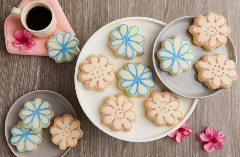 Bake Me a Wish Flower Cookies