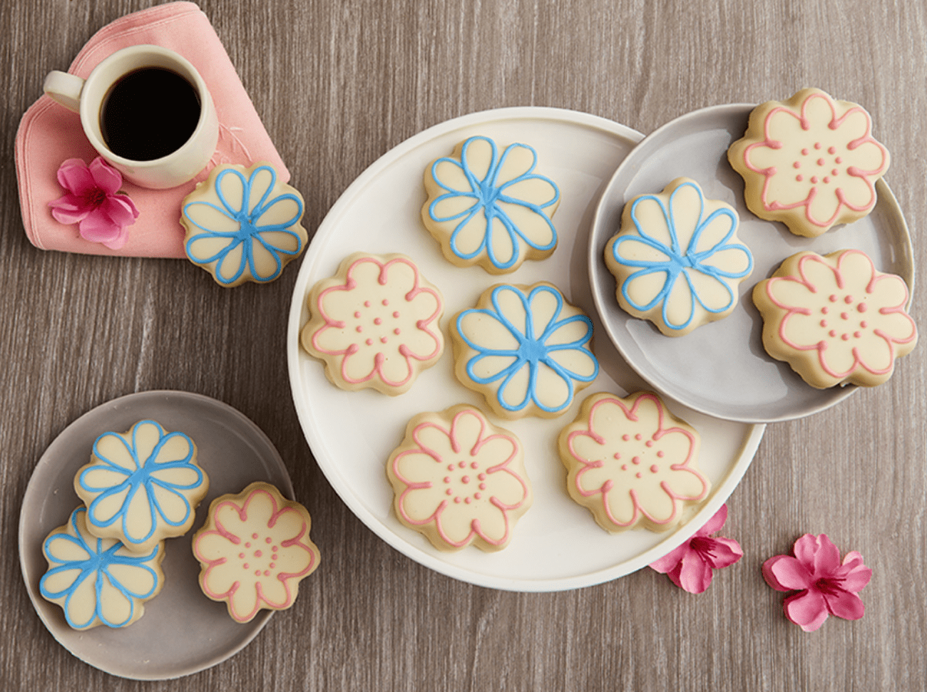 Bake Me a Wish Flower Cookies