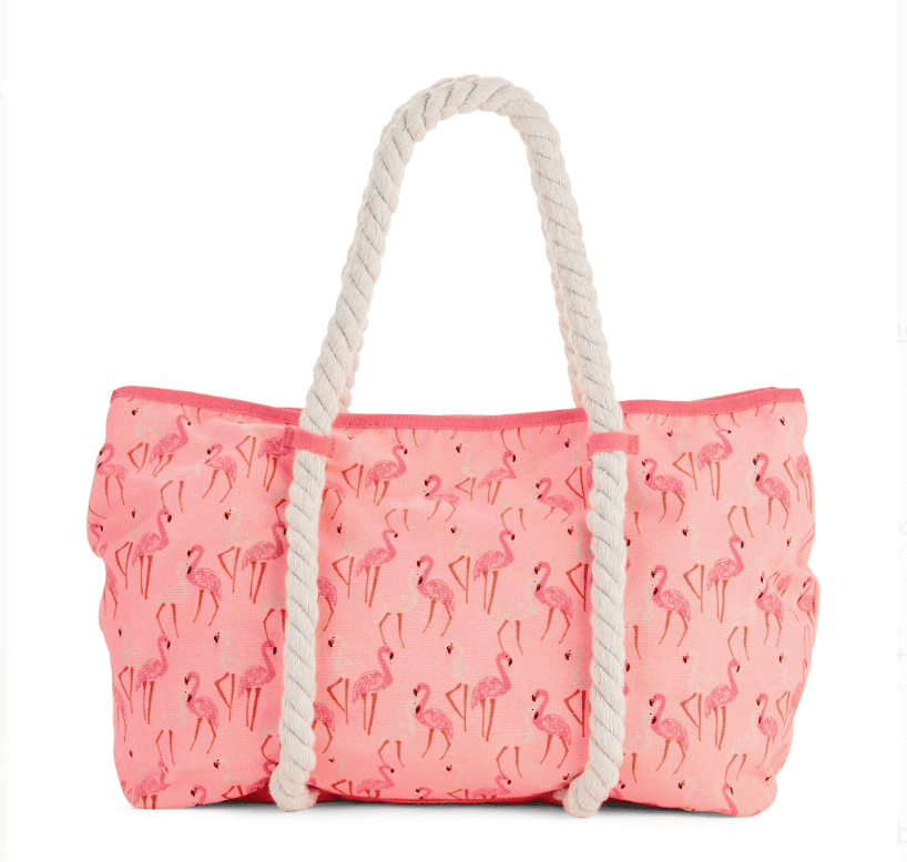 No Boundaries Coral Rope Tote