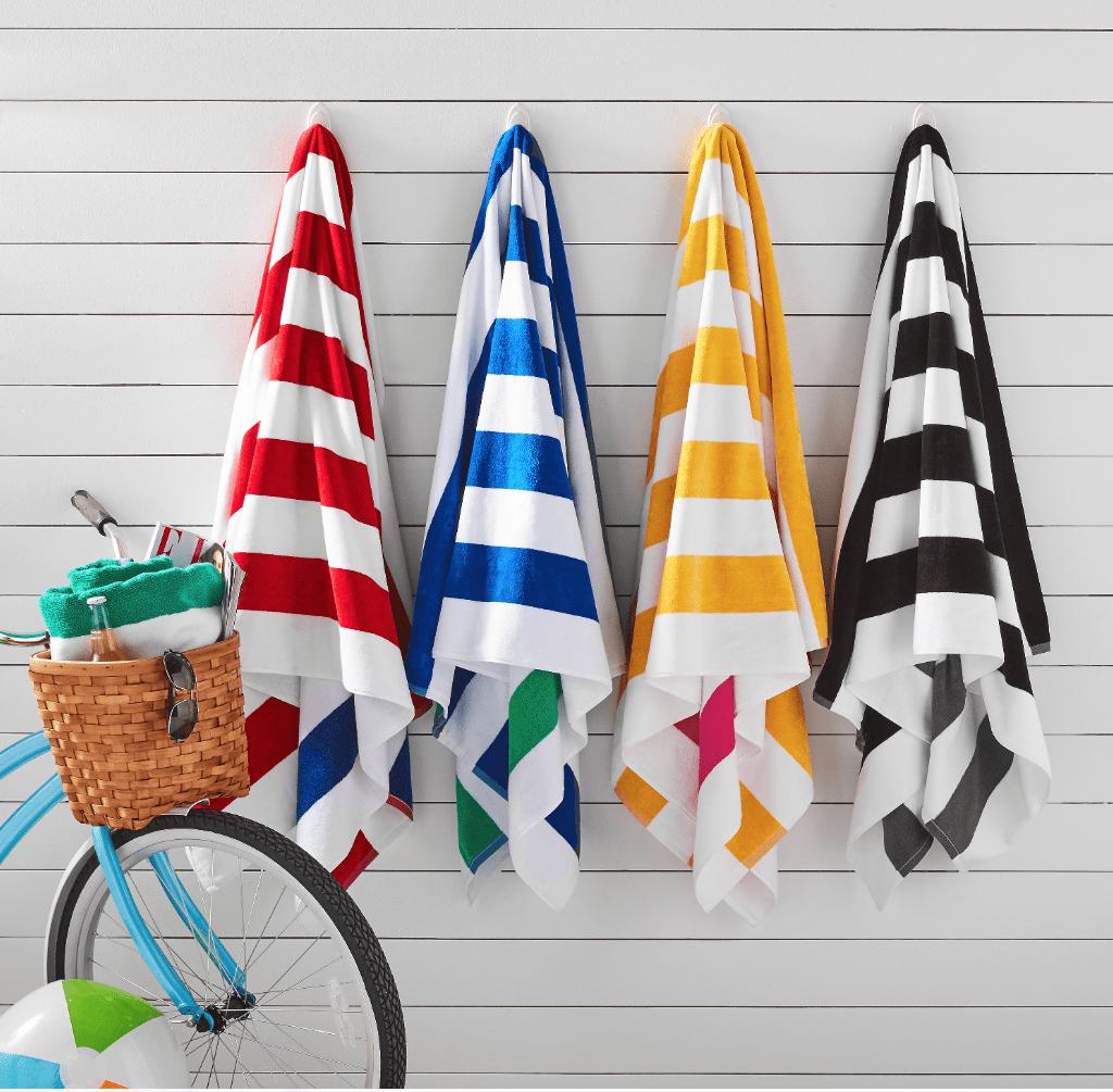 Reversible Cabana Stripe Oversized Beach Towel