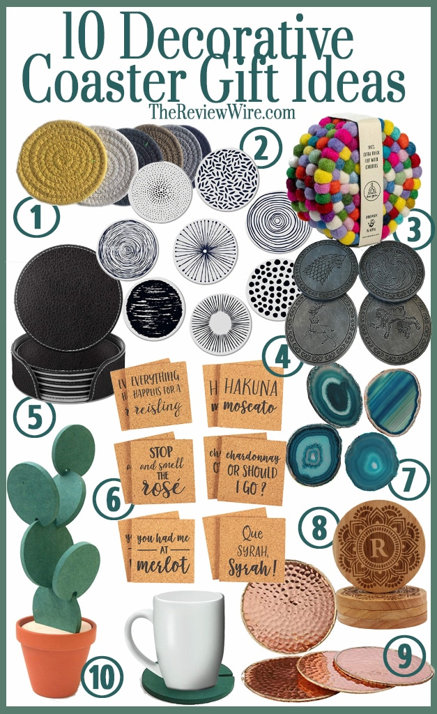 The Review Wire: 10 Decorative Coaster Gift Ideas
