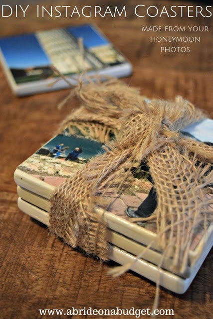 DIY Instagram Coasters from A Bride on a Budget