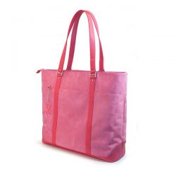 The Review Wire: Breast Cancer Awareness Guide: Pink Faux-Suede Tote