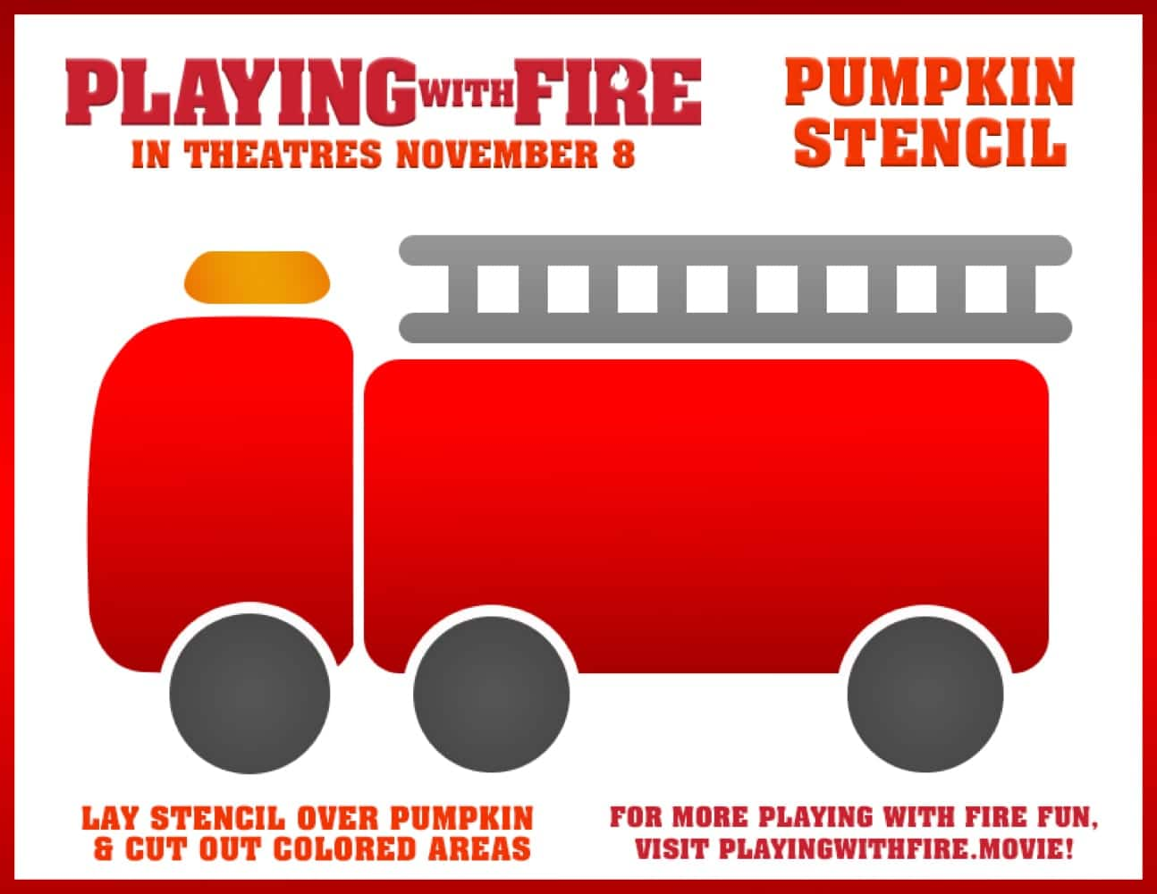 Playing With Fire Pumpkin Stencil