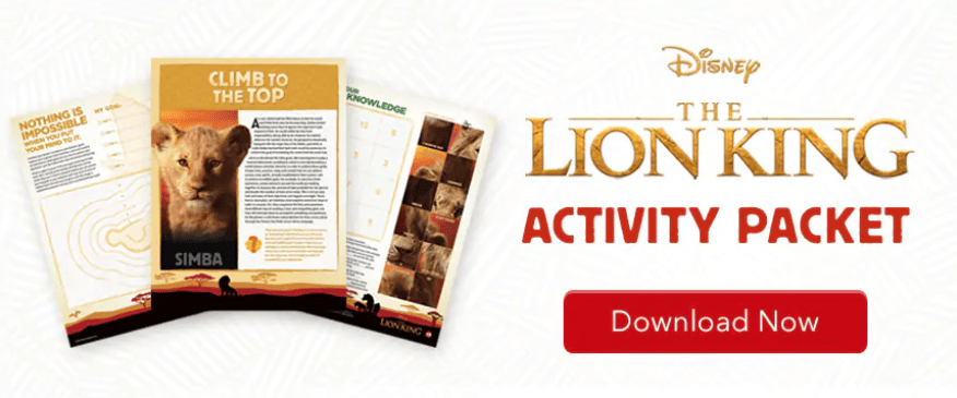The Lion King 2019 Activity Pages
