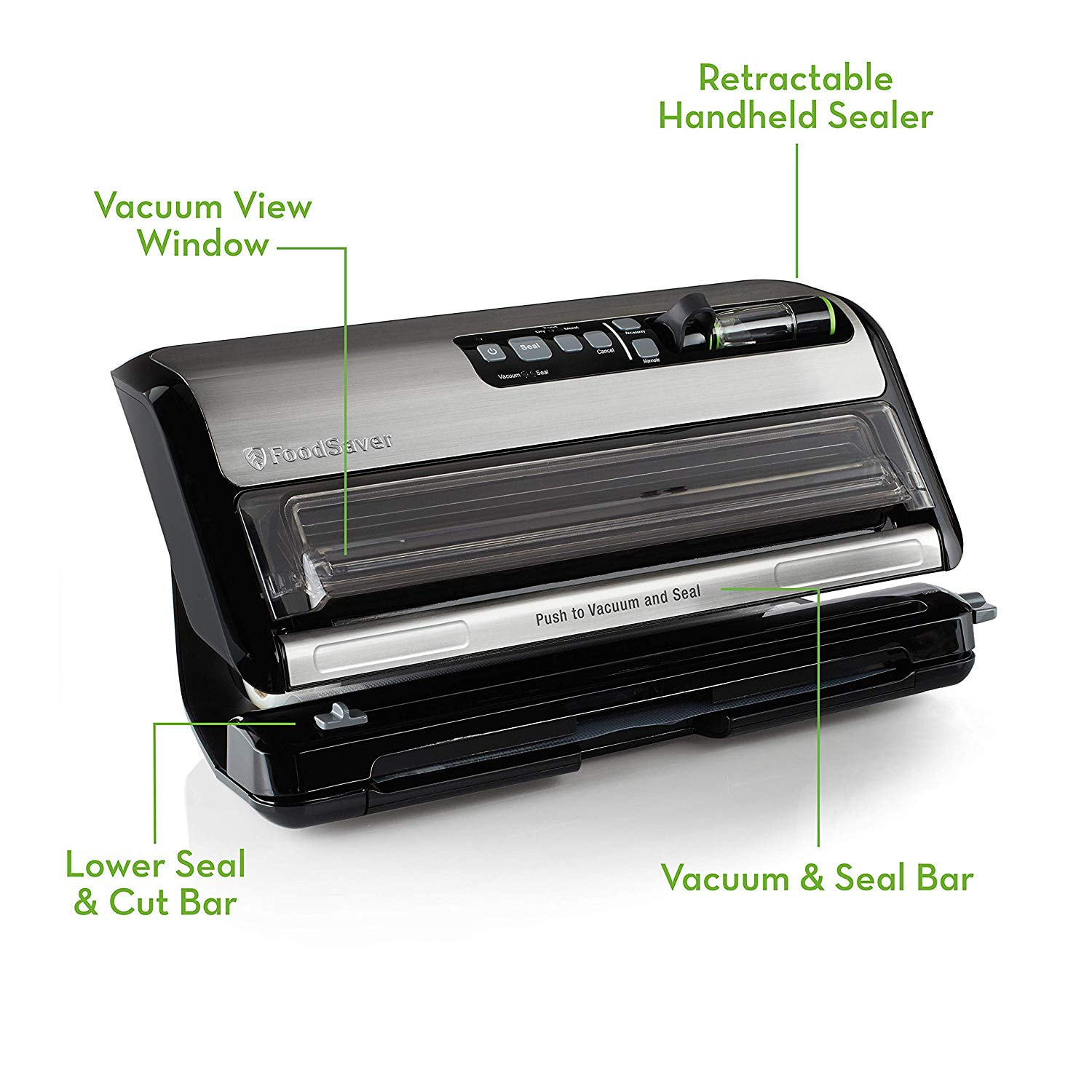 FoodSaver FM5200 2-in-1 Automatic Vacuum Sealer Machine with Express Bag Maker