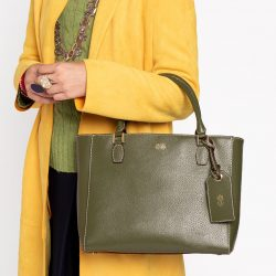 The Review Wire 2019 Holiday Gift Guide:Frances Valentine Olivia Tote Boarskin Olive