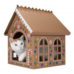 The Review Wire 2019 Holiday Gift Guide: Gingerloaf House - Seasonal Christmas Holiday Gingerbread House for Cats