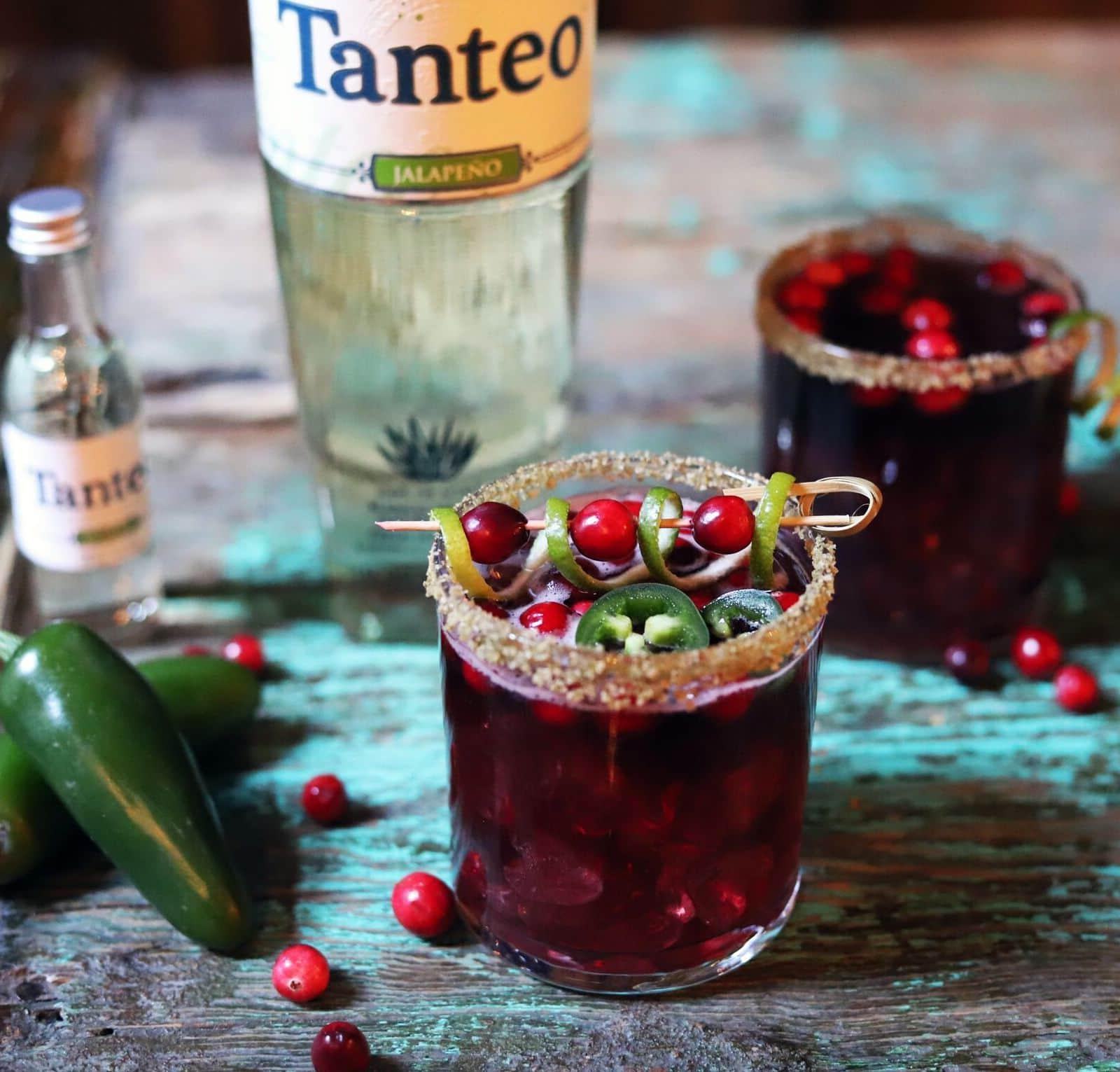 Tanteo Jalapeño Cranberry Margarita