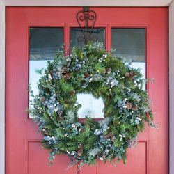 "The Review Wire 2019 Holiday Gift Guide: Village Lighting Rustic White Berry 30"" Pre-Lit Wreath"