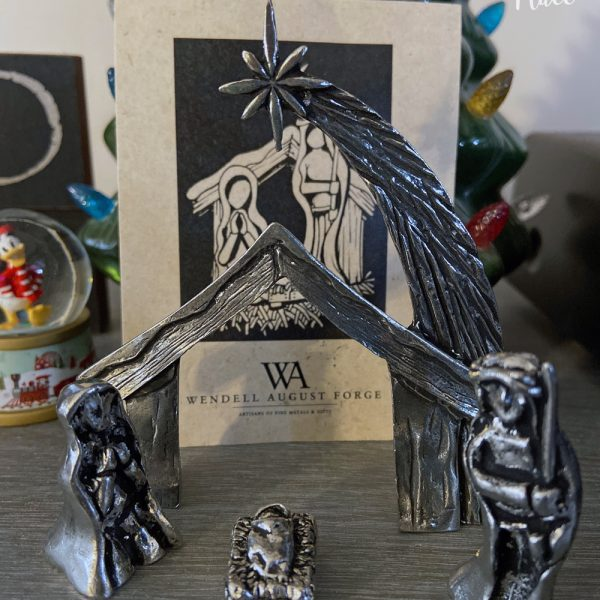 Wendell August Forge Mini 4 Piece Nativity Set