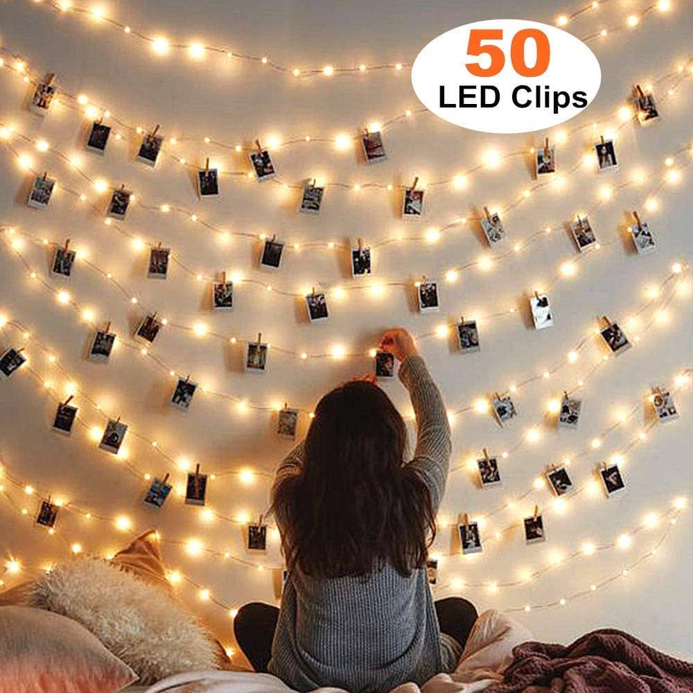 50 Photo Clips String