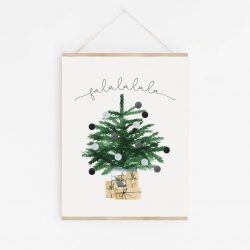 The Review Wire: Make it a Hygge Holiday with these Ideas for a Cozy Christmas - 8x10 Scandinavian ~ Hygge ~ Watercolor ~ Printable Christmas Wall Art