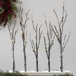 The Review Wire: Make it a Hygge Holiday with these Ideas for a Cozy Christmas - Belham Living 2.5ft Paper LED Tree Forest
