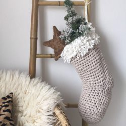 The Review Wire: Make it a Hygge Holiday with these Ideas for a Cozy Christmas - Chunky Knit Christmas Stocking