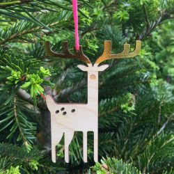 The Review Wire: Make it a Hygge Holiday with these Ideas for a Cozy Christmas - Deer Christmas Tree Decoration