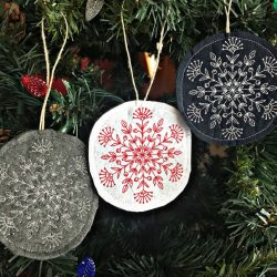 The Review Wire: Make it a Hygge Holiday with these Ideas for a Cozy Christmas - Embroidered Snowflake Ornament