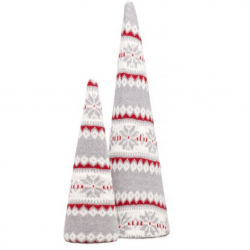 The Review Wire: Make it a Hygge Holiday with these Ideas for a Cozy Christmas - Fair Isle Knit Cone Trees