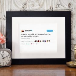 The Review Wire Holiday Gift Guide: Framed Tweets - Kanye West - Surrounded By Winners