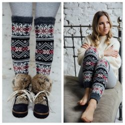 The Review Wire: Make it a Hygge Holiday with these Ideas for a Cozy Christmas - Scandinavian Knit Leg Warmers