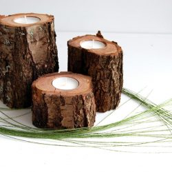 The Review Wire: Make it a Hygge Holiday with these Ideas for a Cozy Christmas - Tree Branch Candle Holders