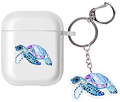 Turtle AirPods Case with Keychain