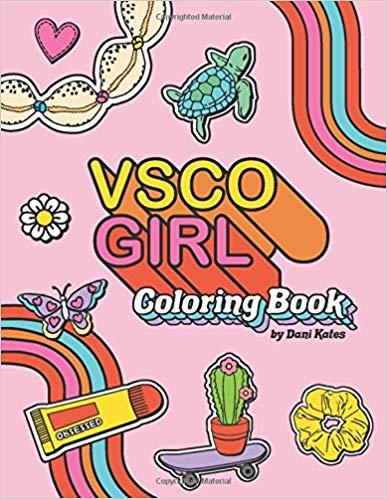 VSCO Girl Coloring Book