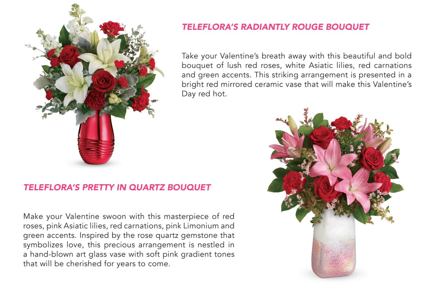 Teleflora Valentine 2020 Bouquets