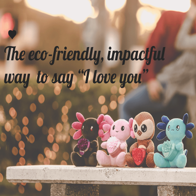 """Axol & Friends: The Eco-Friendly PLUSH Way to Say, """"I love You"""""""