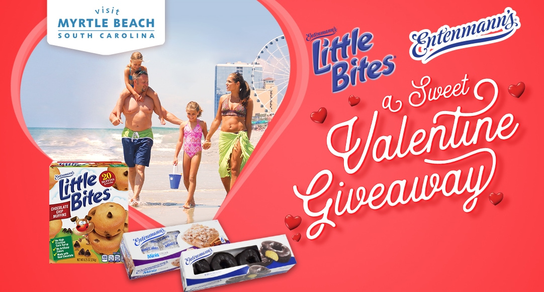A Sweet Valentine Giveaway with Entenmann's, Little Bites and Visit Myrtle Beach