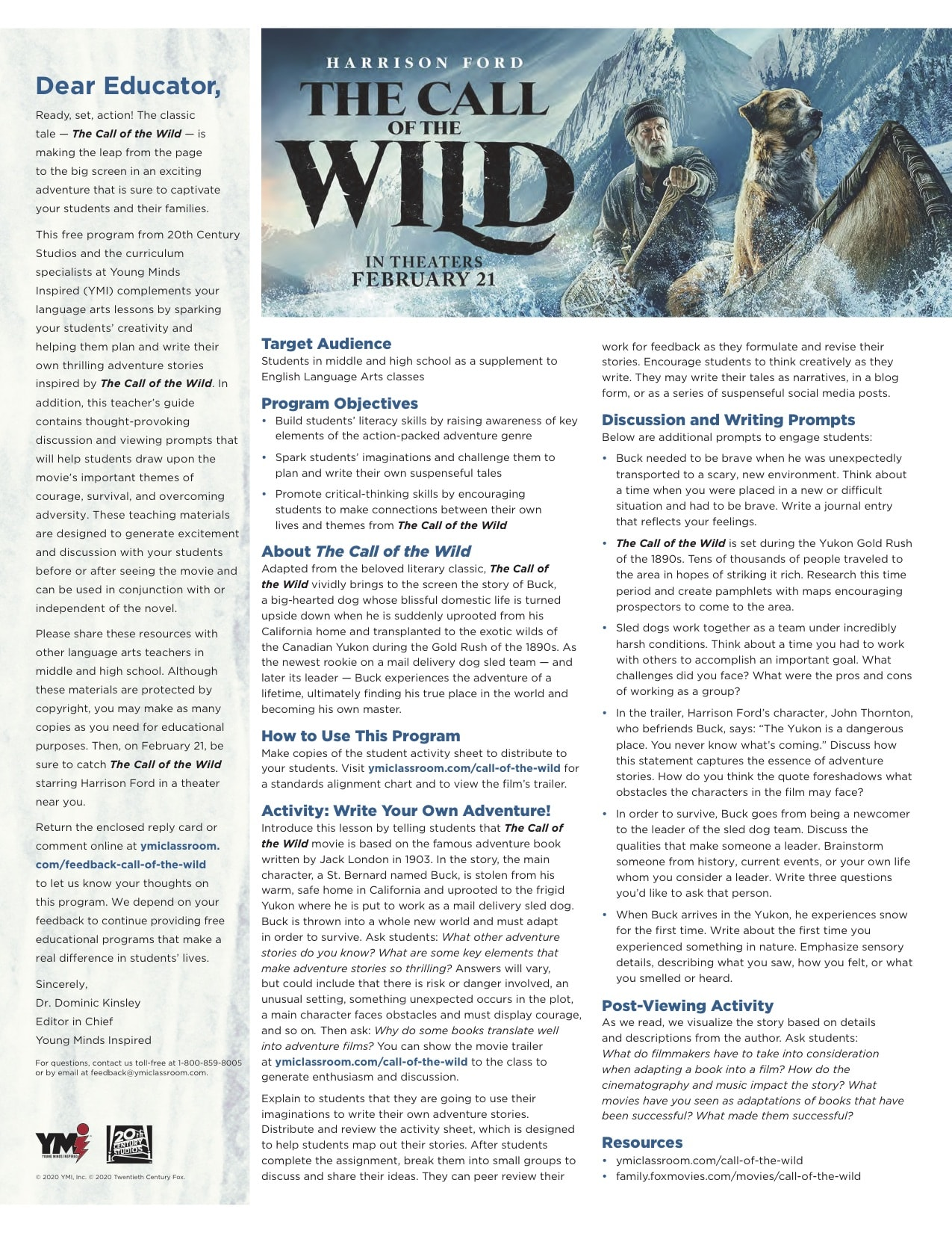 Call of the Wild_Teaching Kit