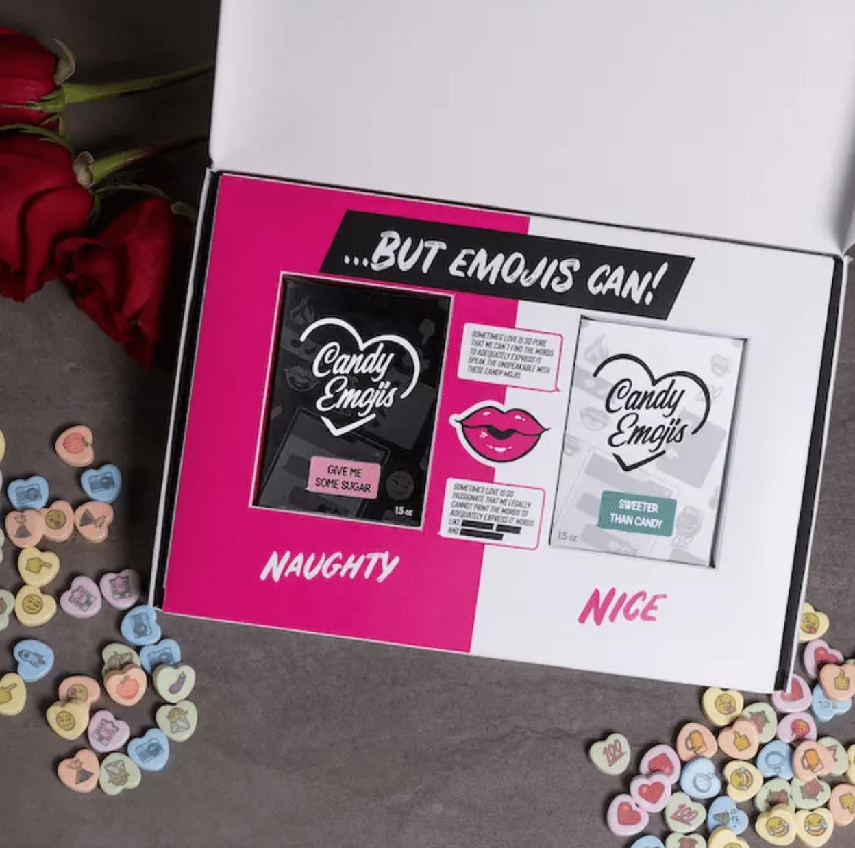 Man Crates Candy Emojis