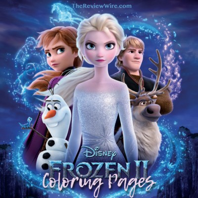 Frozen 2 Coloring Pages + Blu-ray Bonus Features