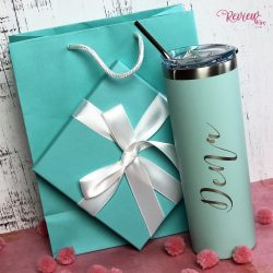 The Review Wire Valentine Guide 2020: Personalized Stainless Steel Skinny Tumbler