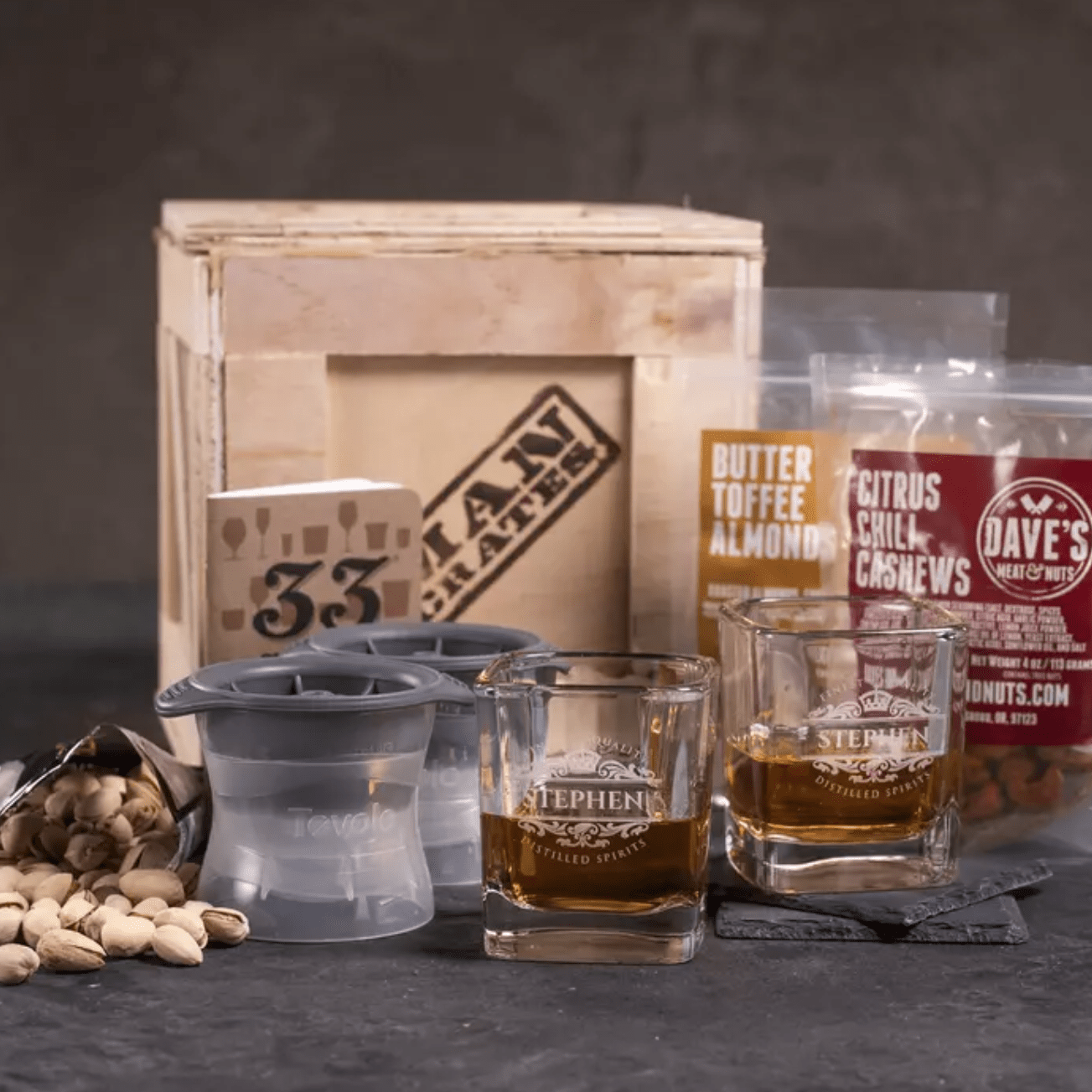 Man Crates Personalized Whiskey Crate