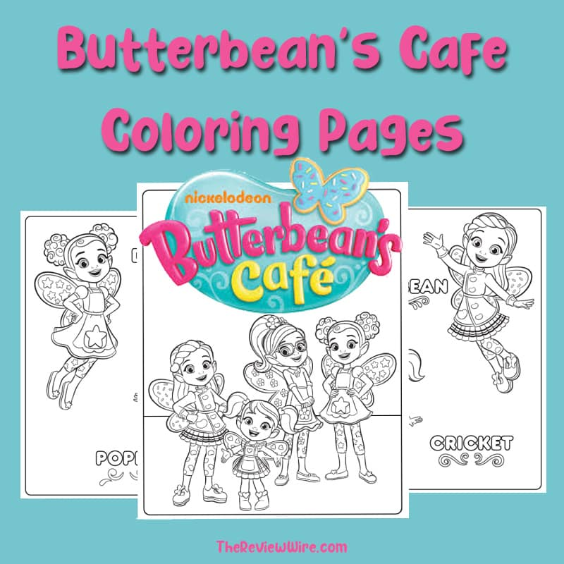 The Review Wire - Butterbean's Cafe Coloring Pages