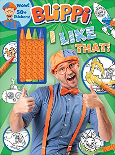 Blippi I Like That! Coloring Book with Crayons