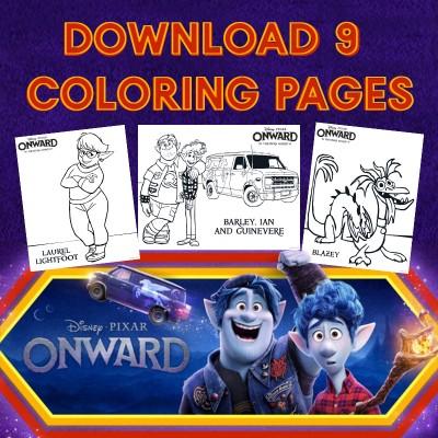 Disney Pixar's Onward Coloring Pages + Onward Movie Review